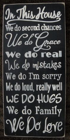 In This House WE DO LOVE Typography Sign by shabbysignshoppe, $79.95