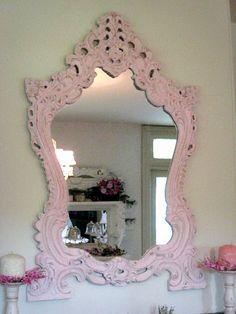 Shabby Chic Pink Mirror