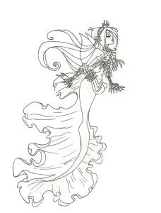 Winx Club Mermaid Flora Coloring Page By On DeviantART