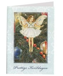 Amgel with Roses Silver Foil Stamped Christmas Card ~ Germany ...