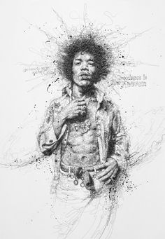 Jimi Hendrix by Vince Low