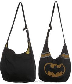 NEW DC Comics Batman BAT MAN Super Hero Logo Hero Hobo BAG Tote School Purse | eBay