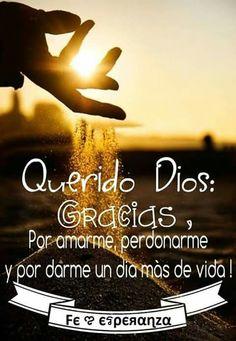 Gracias Dios! A pesar de los errores, tu me perdonas y me das una nueva oportunidad para hacer lo que tu esperas de mi. Te amo <3