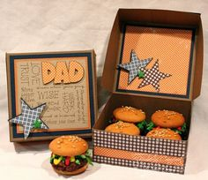 """Burger Box. There is a link here to make these """"burgers"""" which are actually cookies! Simple cookies! What a cool concept. Kids would love making these :)"""