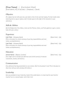 resume of format resume format pinterest resume format resume