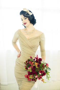 Znalezione obrazy dla zapytania pin up wedding dresses