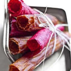Don't throw away leftover juice pulp; use it to make fruit leather.     #juicing #Breville