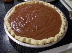 Homemade Chocolate Pudding Pie - I made this for New Years 2012.  I spread the pudding into a baked pie shell and refrigerated according to the recipe instructions.  Right before serving I spread a small tub of cool whip on top and sprinkled with cocoa pearls from Trader Joes.  It was a huge hit - my Dad said it was his new favorite pie.