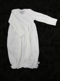 White Short Sleeve Daygown Squiggles By Charlie Cloud Nine