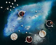 Galaxies and Space with Food Stories - Fubiz Media