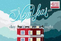Snowy Winter Holiday House by Pavel Korzhenko on Creative Market