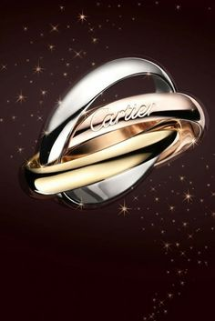 Trinity Ring by Cartier - Yellow, white and rose gold