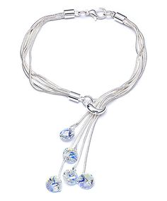 Look at this callura Aurora Borealis Swarovski® Crystal Lariat Bracelet on #zulily today!