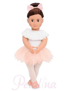 Our Generation Dolls Valencia. Does your little one love ballet? Then Valencia could be for you. New for Valencia is a soft bodied ballerina play doll by Our Generation. Og Dolls, Girl Dolls, Ballet Clothes, Doll Clothes, Valencia, Our Generation Doll Accessories, Poupées Our Generation, Ropa American Girl, Pink Ballet Shoes