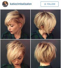 Messy asymmetrical short hair