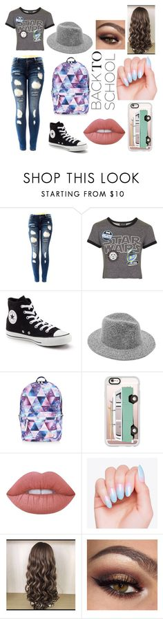 """""""Back To School #4"""" by underthesea29 ❤ liked on Polyvore featuring Topshop, Converse, Accessorize, Casetify and Lime Crime"""