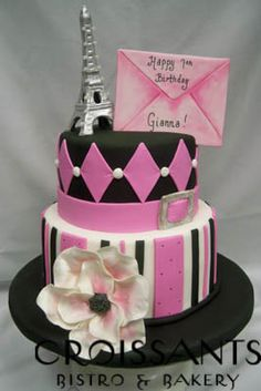 Glamorous Paris Birthday Cake