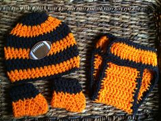 Cincinnati Bengals Football Theme Baby Crochet by KARDsandGifts, $25.00