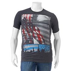 This men's Apt. 9 graphic t-shirt delivers American style. Big & Tall, Graphic Tees, Flag, Box Store, Badass, People, Mens Tops, T Shirt, Trends