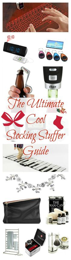 The coolest fun gadgets and accessories for man, woman, & child....AND...then check out the 2nd Annual Ultimate Cool Stocking Stuffer Guide here: http://diyfunideas.com/holiday-stocking-stuffer-gift-guide/