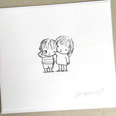 Drawings For Him, Cute Drawings Of Love, Cute Sketches, Small Drawings, Animal Sketches, Kawaii Drawings, Doodle Drawings, Cartoon Drawings, Easy Drawings