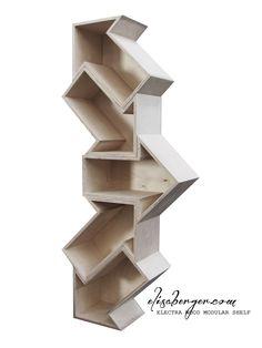 ELECTRA wood modular shelf , Designer Elisa Berger