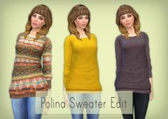 Simsrocuted: Polina sweater dress • Sims 4 Downloads