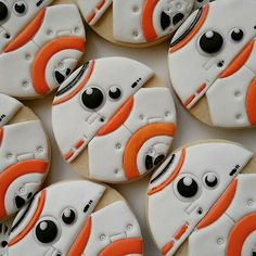 Star Wars Character BB-8 Decorated Cut out Cookies! Iced Biscuits / Galletas Decoradas Más