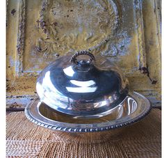 ETSY VINTAGE   SILVER PLATED ANTIQUE DISH