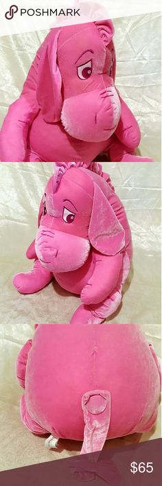 Large 27 Ins Retired Eeyore Pink Plush Soft cuddle buddy thread missing  from right arm Disney Accessories Scarves   Wraps a7c433e94