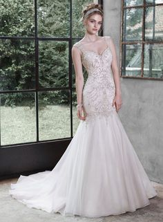 Maggie Sottero Wedding Dresses - Search our photo gallery for pictures of wedding dresses by Maggie Sottero. Find the perfect dress with recent Maggie Sottero photos. Wedding Dress Organza, Maggie Sottero Wedding Dresses, 2015 Wedding Dresses, Wedding Dress Styles, Designer Wedding Dresses, Bridal Dresses, Wedding Gowns, Bridesmaid Dresses, Sheath Dresses