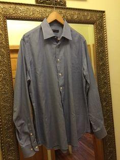 Corneliani dress shirt, 100% Cotton, Size: 17/43, Made in Italy  #Corneliani #dress_shirt, #Made_ in_ Italy
