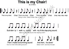 I dont use chairs in my room but if I did or go to a room to teach, here's a little diddy for that occasion