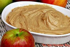 Best dip ever - You only need 2 ingredients: Peanut butter and non-fat vanilla yogurt. Mix em' together, and dip EVERYTHING in it! So freaking delicious!