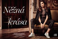 Shlomit Malka stars in Marie Claire Czech magazine February 2016 issue