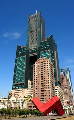 24th tallest building in the world - Tuntex Sky Tower, Kaohsiung, Taiwan - 1,240 ft, 85 floors, and built in 1997.