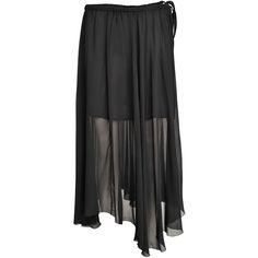 Isabel Marant Etoile Amery long viscose skirt ($315) ❤ liked on Polyvore featuring skirts, black, long black skirt, long black maxi skirt, long rayon skirt, long maxi skirts and long skirts
