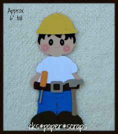 Construction Tool BOY KID Scrapbook Paper Piecing