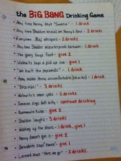The Big Bang Theory | 14 Ways To Get Really Drunk While Watching Your Favorite TV Shows