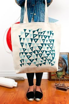 Tote bag with triangle pattern by The New Domestic