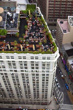 New York - NYC. Roof garden restaurant @ 230 Avenue New York New York Trip, 5th Avenue New York, New York City, New York Travel, Paris Travel, Empire State Of Mind, Empire State Building, New York Restaurants, Rooftop Restaurants Nyc