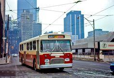 TTC  British  Leyland  bus running  in Toronto