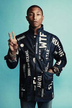 Pharrell Williams, Co-designer of RAW for the Oceans and Creative Director of Bionic Yarn. #rawfortheoceans