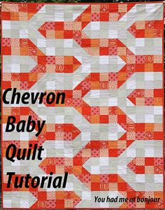 Chevron Baby Quilt, via Pink Chalk Fabrics email