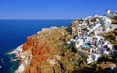 Santorini look even more dreamy. #travel #Santorini #wanderlust