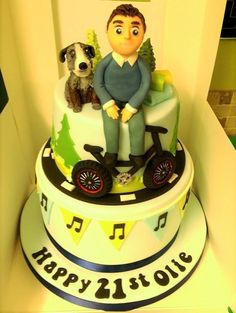 2 tier 21st birthday cake