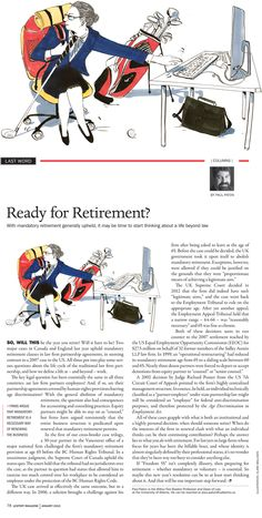 A first of a series of illustrations Clare Mallison has worked on for Lexpert Magazine. Clare illustrated Paul Paton's last word: Ready for retirement? Time to start thinking about life beyond law.