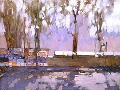 March sun - Bato Dugarzhapov   This reminds me of the bouqinistes along the Seine