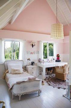 Cuando gana el conjunto | ESPACIO LIVING Ideas Para, Pretty In Pink, Color Pop, Shabby Chic, Cozy, Bedroom, House Styles, Mamma, Kids Rooms