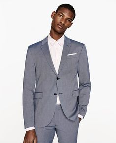 Image 2 of SUIT BLAZER WITH TEXTURED WEAVE from Zara